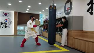 공수도온라인대회참가 (초등부) 대련 대한공수도 김윤호