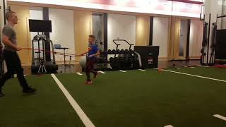 Band Resisted Dropstep an Run @ TB12 Sports Performance