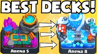 Clash Royale BEST ARENA 5 - ARENA 8 DECKS UNDEFEATED | BEST ATTACK STRATEGY TIPS F2P PLAYERS