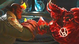 Injustice 2 - Hellboy Vs Atrocitus - All Intro Dialogue/All Clash Quotes, Super Moves