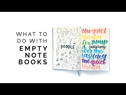 What To Do With Empty Notebooks