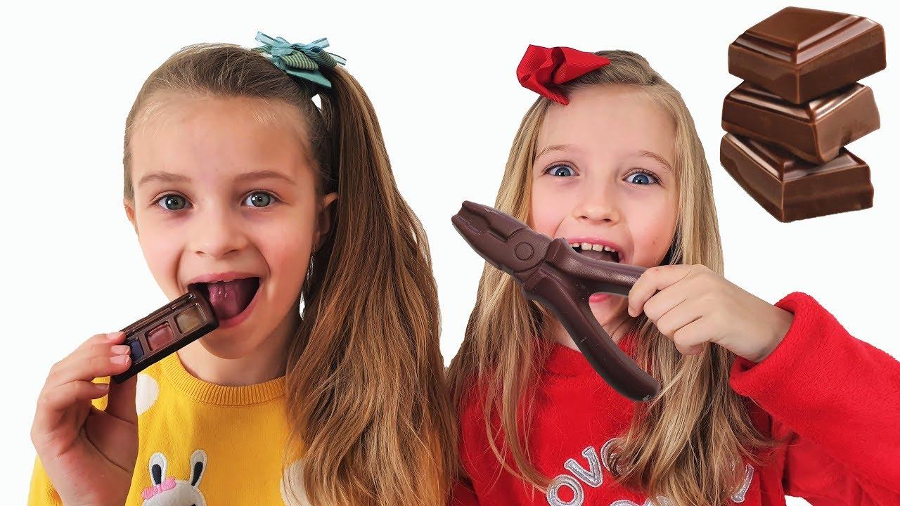 Шоколад и настоящее Челлендж от Полины и Сони