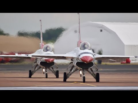 Thunderbirds USAF Rehearsal Training flying Display RIAT 2017 AirShow