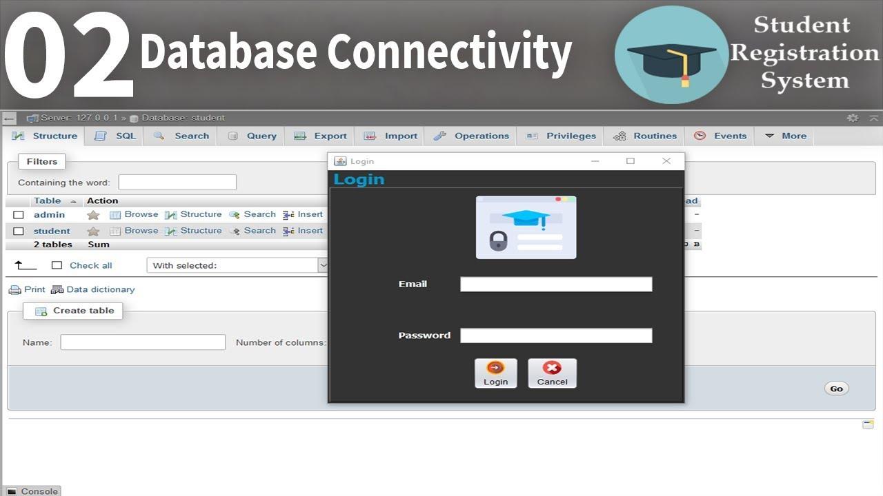 Database connectivity | Student Registration System part2