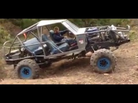 Home made K5 Blazer Buggy up a small slick hill - YouTube