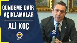 Başkanımız Ali Koç'un gündeme dair açıklamaları (20 Şubat 2019)