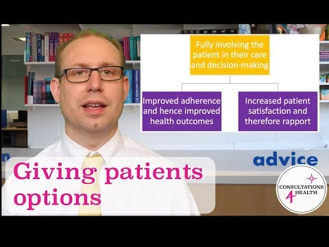 Shared Decision Making and Giving Patients Options