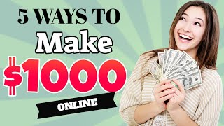 5 Legit Ways To Make Money And Passive Income Online Easily ( How To Make Money Online Fast )