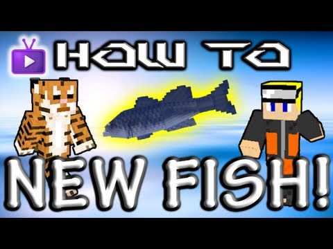 Minecraft How To: Mo' Creatures - NEW Fish! Medium And Small Fish, Piranhas!