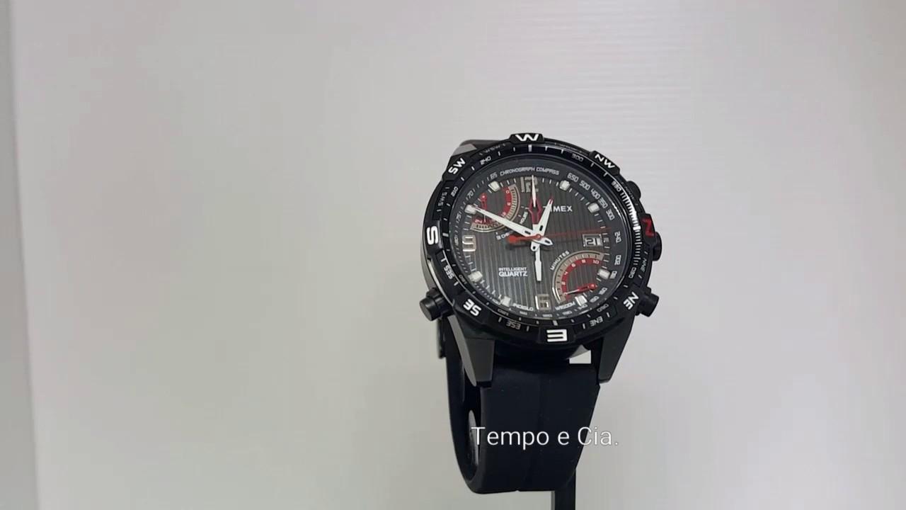 b0a6ff4da16 Relógio masculino Timex Flyback Bussola T49865 - YouTube