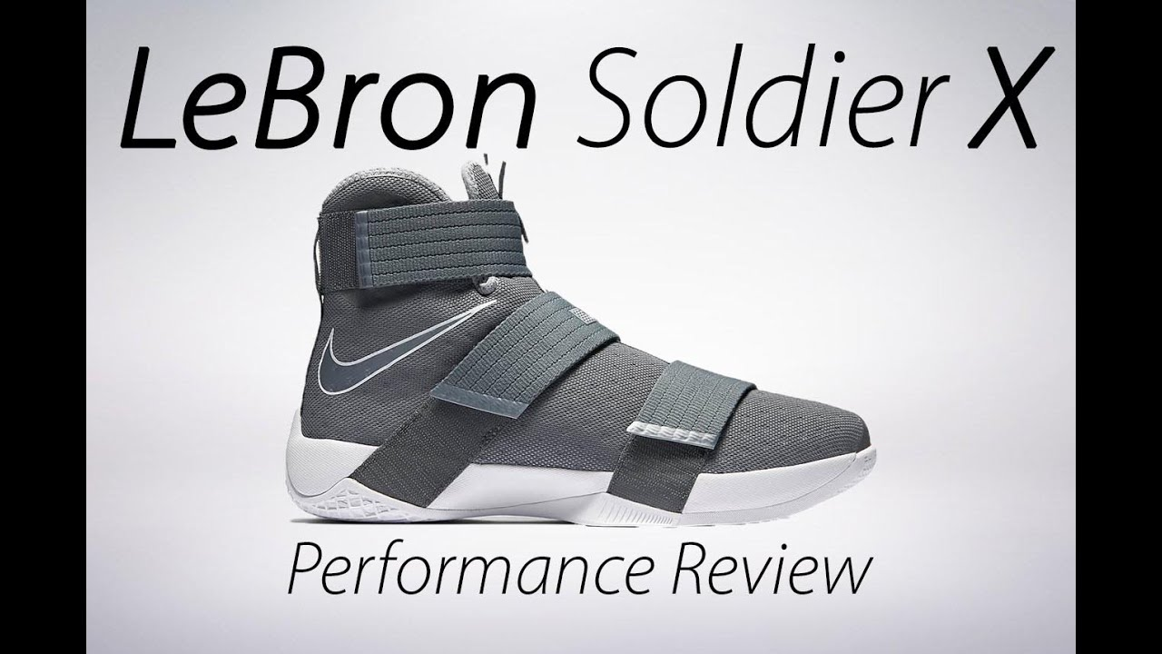 13010ab7b4dec Nike LeBron Soldier X Performance Review - YouTube