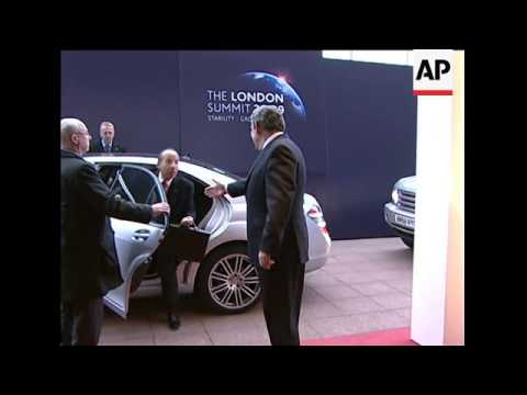 Leaders arrive for G20 summit at ExCel centre - 2009