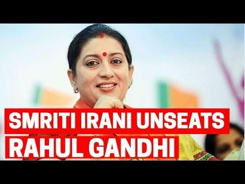 BJP's Smriti Irani unseats Rahul Gandhi from Amethi bastion