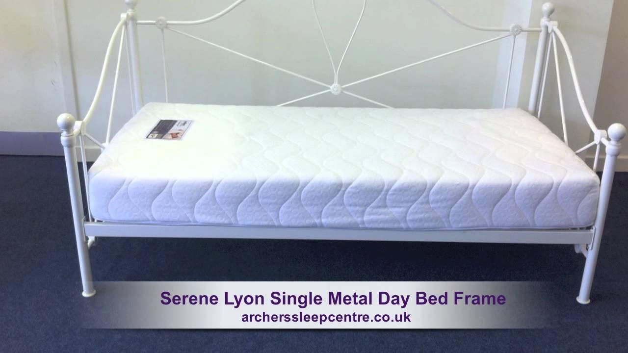 Serene Lyon Single Metal Day Bed Frame Youtube