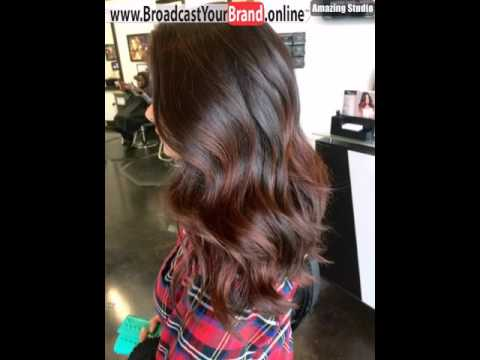 Auburn Ombre Highlights For Layered Brown Hair Youtube
