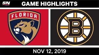 NHL Highlights | Panthers vs Bruins - Nov. 12, 2019