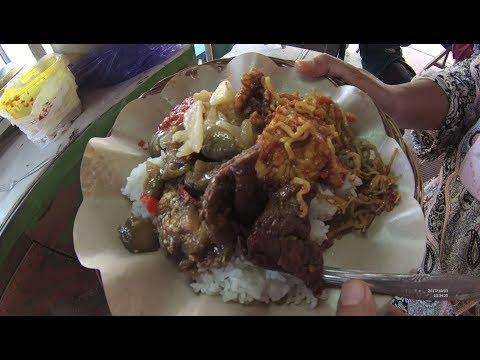 Indonesia Bali Street Food 2070 Part.2 Halal Mix Rice Nasi Campur Halal  Ibu Kiki YN010112