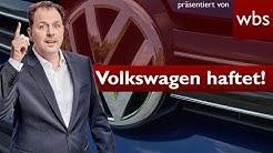 Top-Urteil im Abgasskandal: VW haftet auch bei Autokauf ab 2016! | Rechtsanwalt Christian Solmecke