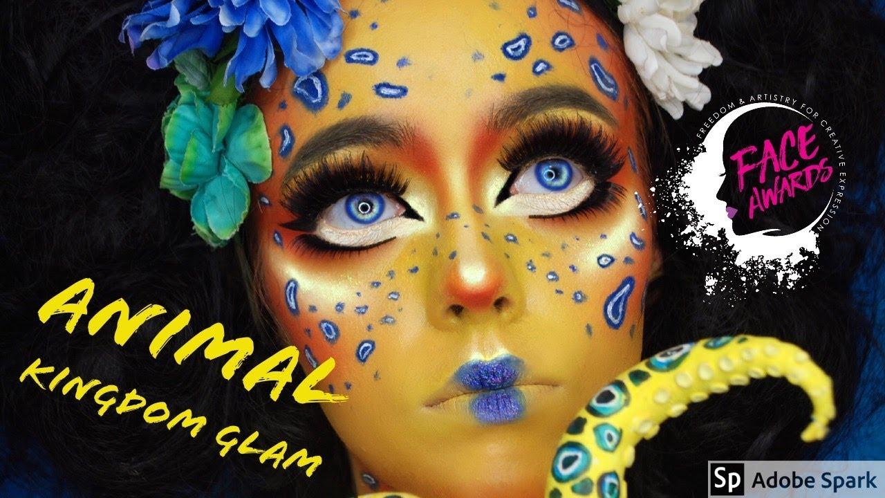 ANIMAL KINGDOM GLAM: BLUE RINGED OCTOPUS - NYX Professional Makeup UK & Ireland Face Awards Top 20