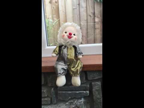 Musical Wind Up Clown Doll