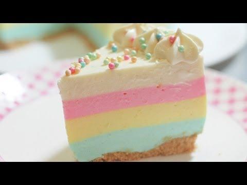 PAY ARCOÍRIS SIN HORNO (Rainbow Pie Tutorial) | MIS PASTELITOS