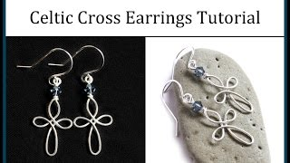 Download Video How to Make Celtic Cross Earrings : Easy Wire Wrapped Jewelry Tutorial MP3 3GP MP4