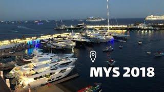 Яхт шоу в Монако вечером