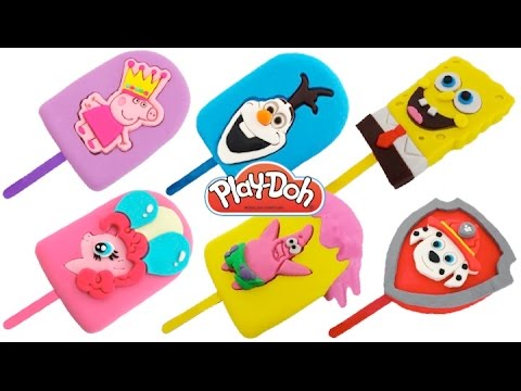 DIY How to Make Play Doh Ice Cream Popsicles Modelling Clay