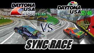 Daytona 2001 Vs Daytona USA Sync Race Dreamcast Model