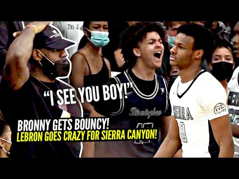 Download LeBron Watches Bronny THROW DOWN In His 1ST START For Sierra Canyon! Amari Bailey SNAPS!