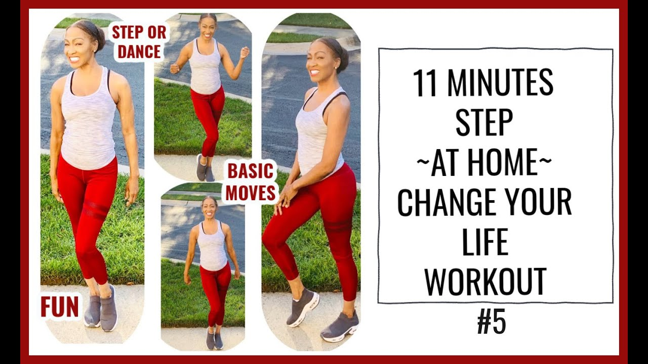 WORKOUT FROM HOME|EASY TO FOLLOW STEP ROUTINE|11 MINUTE EXERCISE|FITNESS TIPS FOR WOMEN OVER 50