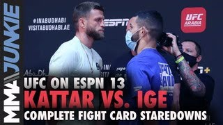 UFC on ESPN 13 full fight card faceoffs from 'Fight Island'
