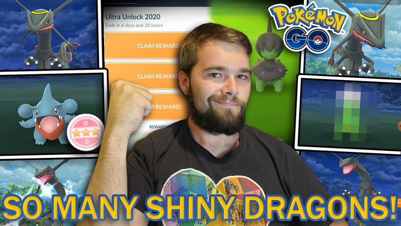 SHINY DEINO HUNT! 6 SHINY POKEMON CAUGHT! OVER 40 RAYQUAZA RAIDS! (Pokemon GO Dragon Week)