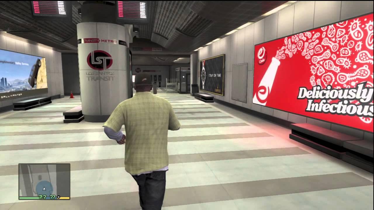 GTA 5 UNDERGROUND METRO TRAIN STATION LOCATION GAMEPLAY ...