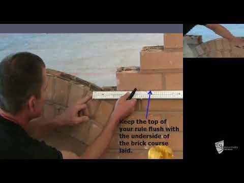 Constructing segmental brick arch (Part 5 of 5)