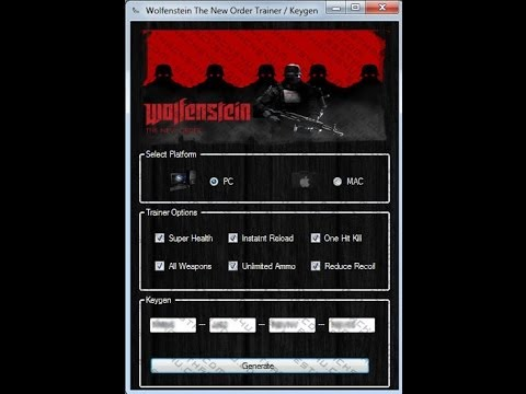 Hack Trainer v1.0 for Wolfenstein: The New Order 2014 XboxOne - PS4 - PC