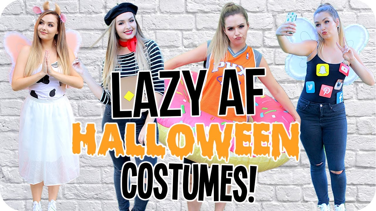 Lazy AF DIY Halloween Costumes 2016! - YouTube