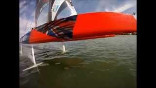 Whisper foiling catamaran test 3