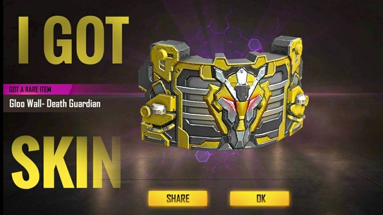 i got new death guardian gloo wall skin & venom backpack in free fire