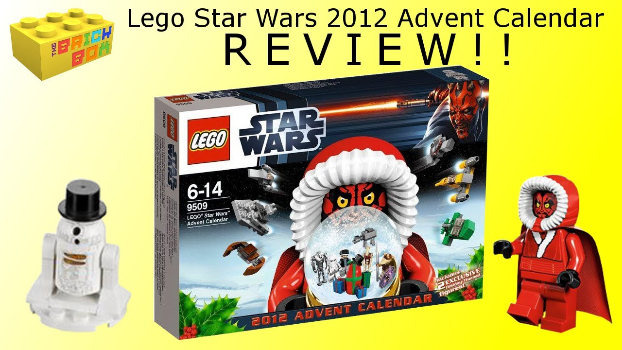 Lego Star Wars Advent Calendar 2012 Review 9509, Santa Maul ...