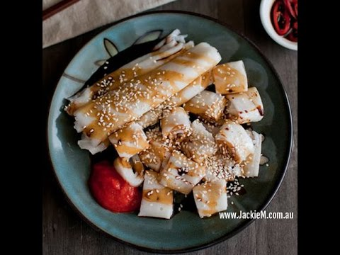 (Hangout-On-Air) How to Make Chee Cheong Fun (Rice Noodle Rolls)