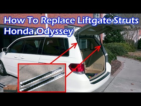 How To Replace Rear Liftgate Struts – Honda Odyssey