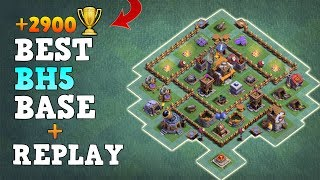 Builder Hall 5 Base / BH5 Builder Base + Replay / CoC Anti 2 Star Base Layout / Clash of Clans