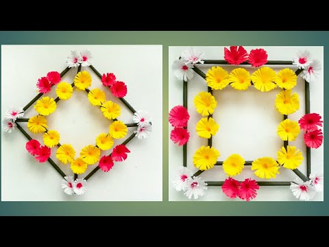 Diy paper flower wall hanging /Simple and beautiful wall hanging ...