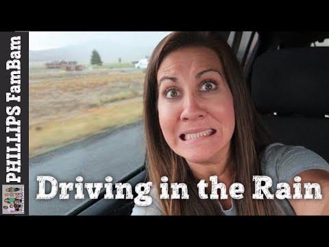 DRIVING THROUGH A RAIN STORM | UTAH IDAHO FAMILY VACATION | PHILLIPS FamBam Vlogs