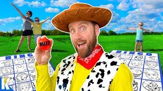 GIANT Toy Story 4 Movie BINGO Family Battle | KIDCITY