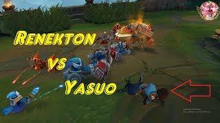 Renekton Montage ♥ Khi Yasuo muốn solo Renekton và cái kết