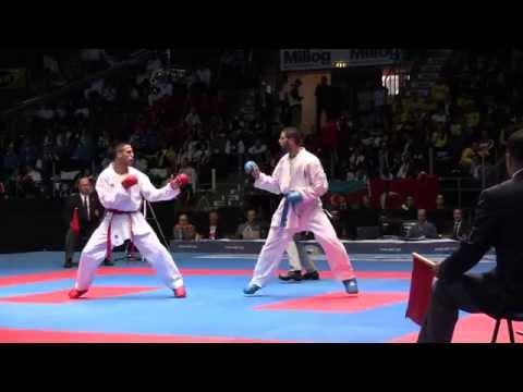 Stefan Joksic vs Mauro Scognamiglio. Bronze medal fight. 49th European Karate Championships