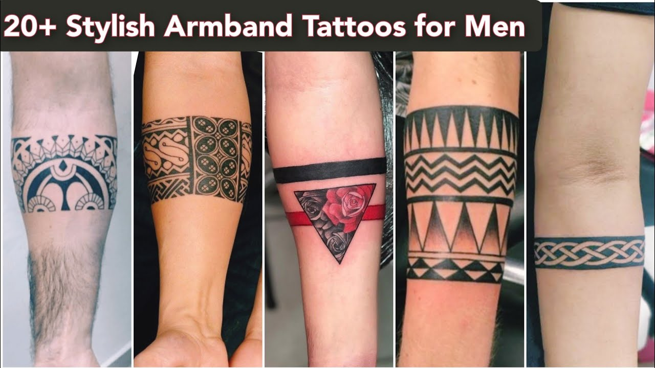 20+ Stylish Armband Tattoos for Men   Hand band tattoo for men ...
