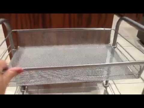 Esylife 3 Tier Metal Mesh Rolling Cart Utility Cart Kitchen Storage